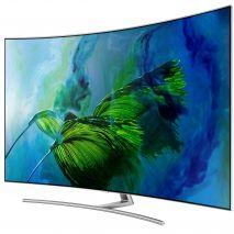 Televizor QLED Curbat Smart Samsung, 163 cm, 65Q8C, 4K Ultra HD