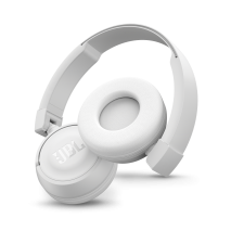 Casti audio on-ear cu microfon JBL T450, Bluetooth, White