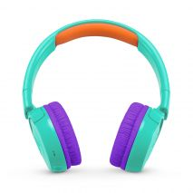 JBL JR300BT, Casti on ear Wireless, Bluetooth, Kids, Turcoaz