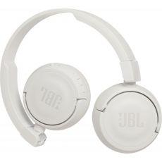 Casti audio on-ear cu microfon JBL T450, White