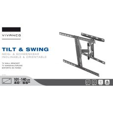 VIVANCO Suport Tv cu Brat 101-140 cm