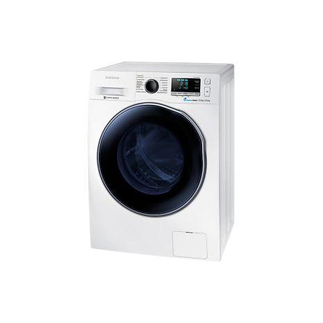 Masina de spalat rufe cu uscator Samsung Eco Bubble WD90J6400AW/EG, 1400 RPM, Spalare 9 KG, Uscare 6 KG, Clasa A, Alb