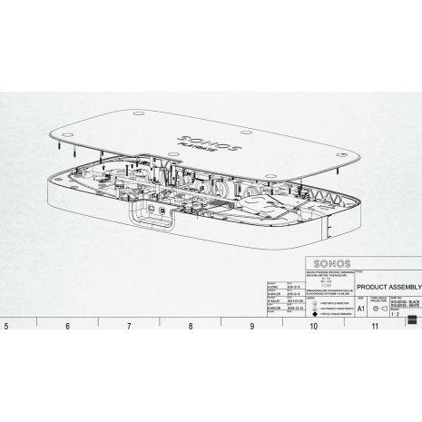 Soundbar Sonos Playbase, Wireless, Negru